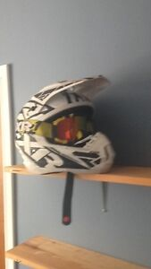 Fxr snowmobile helmet and goggles