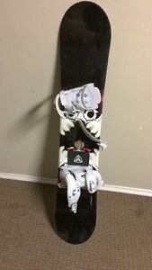 Girls/women's snow board,bindings and boots