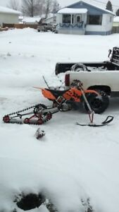 SnoXcycle Dirt Bike Track & Ski Kit