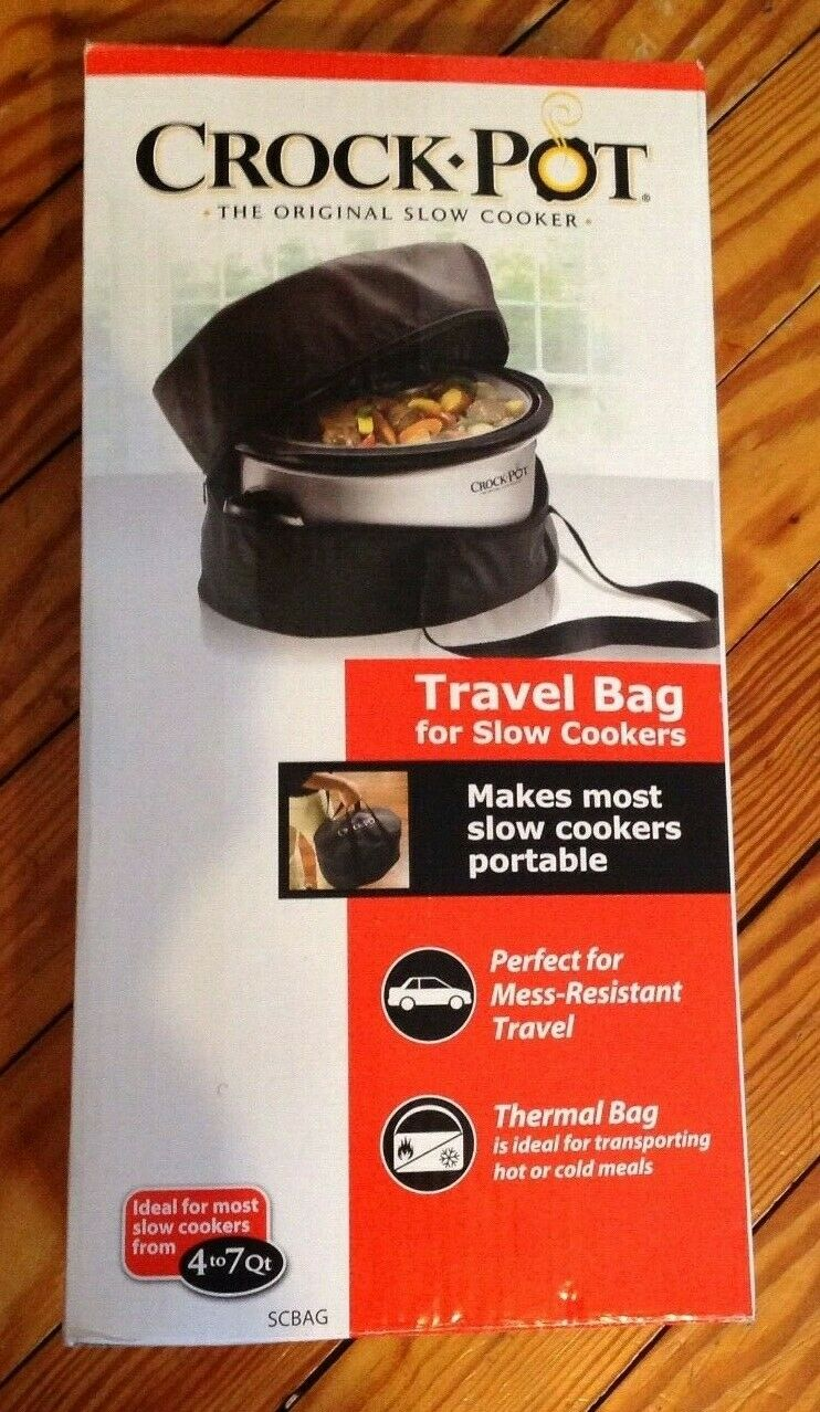 Crock Pot Thermal Travel Bag for 4-7 Qt Slow Cookers Brand N