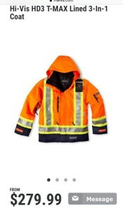 Almost new! High vis hd3 t max lined 3 in 1 coat size small
