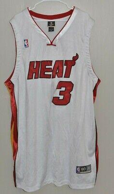 NBA Miami Heat Dwyane Wade #3 Home White Jersey 5XL Size 60 Reebok