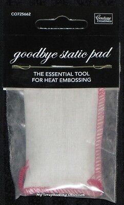 Couture Creations 'GOODBYE STATIC PAD' Essential Tool for Heat Embossing Craft Goodbye Static Pad