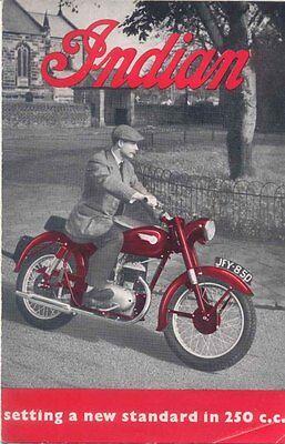 Indian Models R & S Motorcycle Original Sales Brochure 1952