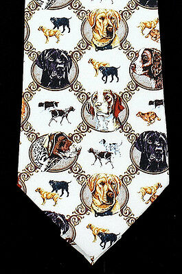 Hunting Dog Mens Necktie Jon Wright Art Retriever Labrador Gift Silk Tie New