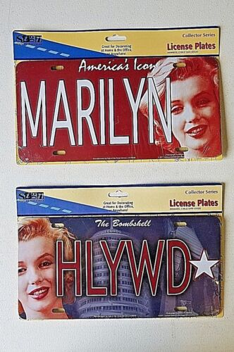Marilyn Monroe Novelty Car Truck License Plate Metal Auto Tag Retro Collector