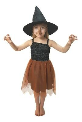 GIRLS HALLOWEEN PUMPKIN WITCH COSTUME WITH NOSE ALL - All Halloween Costumes For Girls