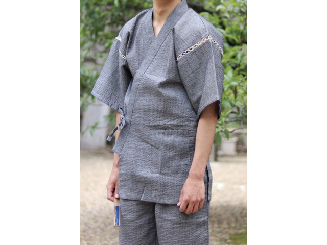 Details about  /Japanese JINBEI Men/'s Summer Kimono wear Topps Half Pants from JAPAN #3 Gray