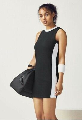 Women's Fabletics Becky Mini Tank Dress, Size M - Black/White