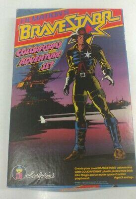 1986 Filmation's Bravestarr Colorforms Adventure set RARE