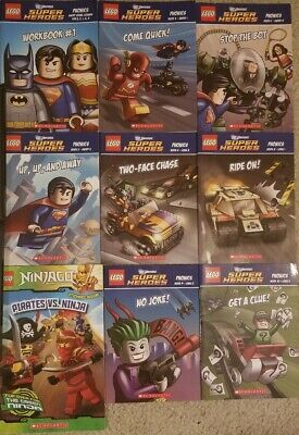 LEGO Superheroes Book Lot of 9 (Ninjago, Batman, Joker, Superman etc.) Kids Used