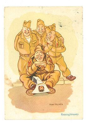 NINO PALAZZO RACCOGLIMENTO UMORISTISTICA MILITARE VIAGGIATA 1952