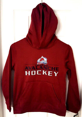 Colorado Avalanche Youth Fleece - COLORADO AVALANCHE Youth Hoodie Size Small 8 Sweatshirt Fleece Lined New