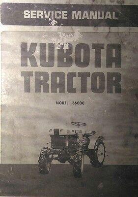 Kubota B6000 Diesel 4x4 Farm Tractor Service Repair Dealer Manual 54pg Overhaul