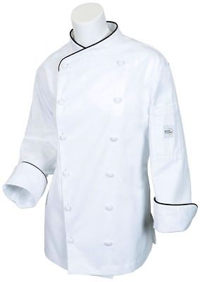 Lot Of 4 Mercer Culinary Womens Chef Coat Scoop Neck White Xs And Small