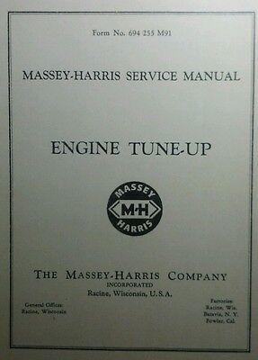 Massey-harris Service Manual Engine Tune-up 56p 21 22 23 30 33 44 44-6 55 Diesel