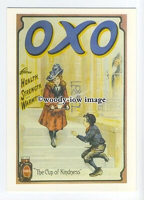ad0676 - Oxo - Girl Sharing A Mug Of Oxo With poor Boy -  Modern Advert Postcard