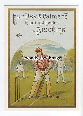 ad0623 - Huntley & Palmers Biscuits - Cricket Players - Modern Advert Postcard