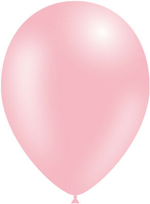 Light Pink Balloons (Metallic Light Pink 5 inch Air Fill Latex Balloons Birthday Party Event)