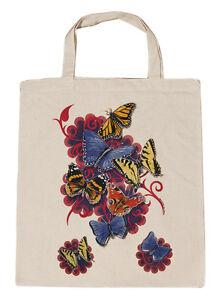 Borsa-di-cotone-Borsa-di-stoffa-BORSA-motivo-fiori-farfalle-09842-2-naturale