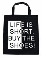Borsa Di Cotone Borsa In Tessuto Con Stampa Life Is Breve Buy The Scarpe 08771 -  - ebay.it
