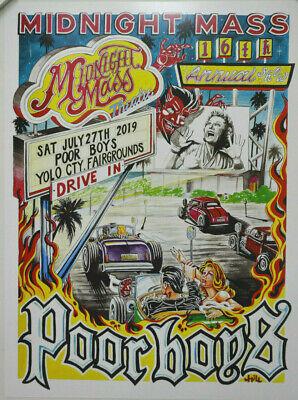 HOT ROD CAR CLUB SHOW POSTER MIDNIGHT MASS DEVIL RAT VTG DRIVE-IN MOVIE ART (Vintage Hot Rod Art)