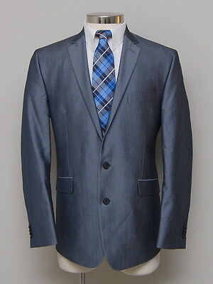 8c94367b37c NWOT Mens 42R Kenneth Cole Reaction Grey Pinstripe Shiny Blazer