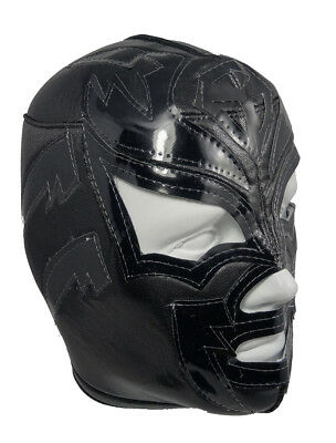 SOMBRA (pro-fit) Adult Lucha Libre Halloween Costume Mask - Black - Lucha Libre Costume Halloween