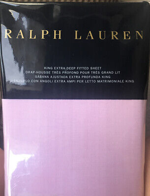 NEW Ralph Lauren RL Luxury Oxford Pink King X Deep Fitted Sheet TAKING OFFERS! Pink King Fitted Sheet