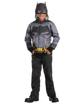 "Batman v Superman Kids Batman Hoodie Top, Lrg, Age 8-10, HEIGHT 4' 8"" - 5' 0"