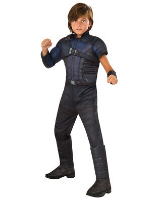 Kids Hawkeye Civil War Muscle Chest Deluxe Costume L Age 8-10 Height 142-152 cm