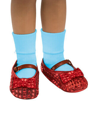Kids Dorothy Sequin Red Shoe Covers