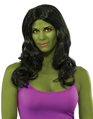 She-Hulk Wig, Womens Marvel Comics Costume - She Hulk Costume