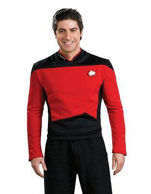 Star Trek Next Generation Mens Picard Red Costume,Medium, CHEST 38 - 40
