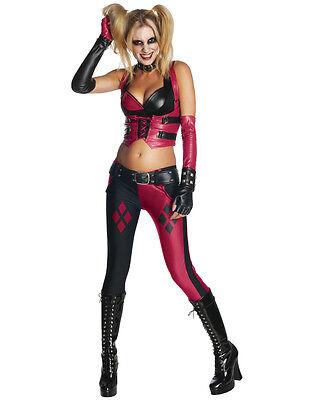 Harley Quinn Womens Arkham City Costume,Med,(USA 6-10),BUST 36-38