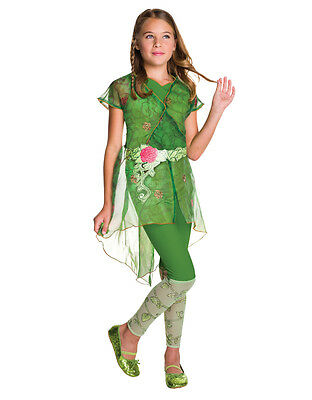 Poison Ivy Deluxe, Kids DC Girls Costume,Large,Age 8-10, HEIGHT 4' 8