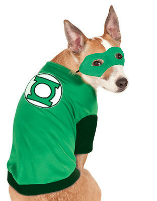 Green Lantern Pet Costume,Medium, Neck to Tail 15