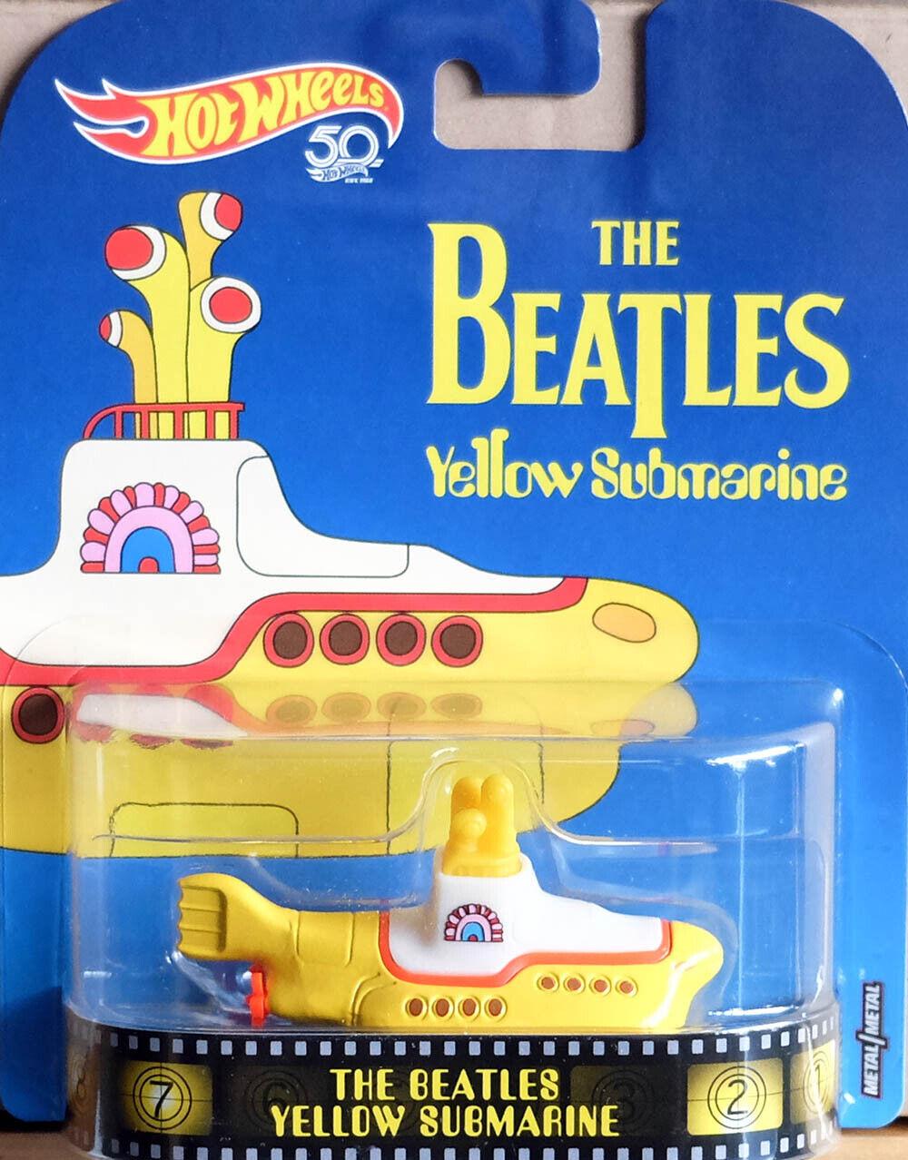 YELLOW SUBMARINE Hot Wheels 1:64 BEATLES    Neu /& OVP Retro Entertainment