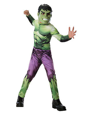 Hulk Costume, Kids Avengers Outfit, Large, Age 8 - 10, HEIGHT 4' 8