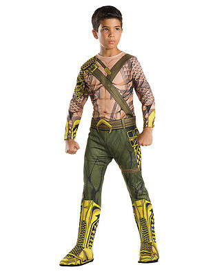 "Batman v Superman Kids Aquaman Costume, Larg, Age 8 - 10, HEIGHT 4' 8"" - 5' - Aquaman Batman V Superman Kostüm"