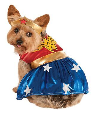 Wonder Woman Pet Dog Costume, Medium, Neck to Tail 15