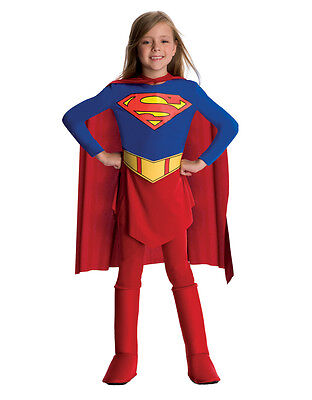 Supergirl Kids Jumpsuit And Cape Outfit,Medium, Age 5 - 7, HEIGHT 4' 2