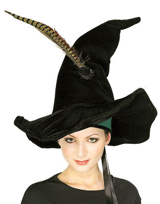 Harry Potter Costume Accessory, Womens McGonagall Black Hat with Feather