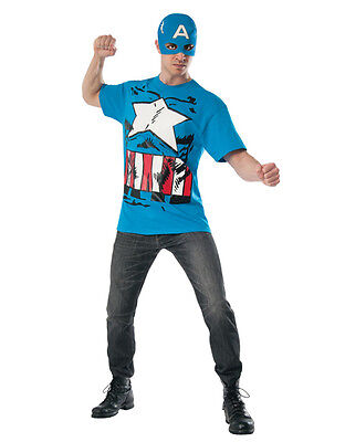 Captain America Shirt Accessory Kit, Mens Marvel Outfit, Large, CHEST 42 - - Marvel Kostüm Kit