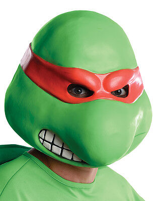 Raphael Overhead Latex Mask, Mens Teenage Mutant Ninja Turtles Costume Accessory