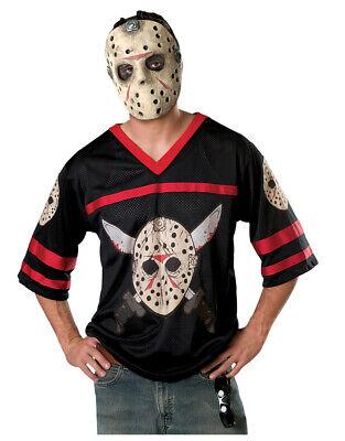 Jason Voorhees Mens Hockey Shirt Costume, Standard, CHEST 44