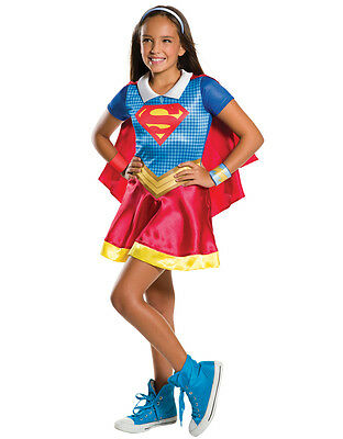 """Supergirl Kids DC Super Hero Girls Costume, Medium,Age 5-7,HEIGHT 4' 2"""" - 4' 6"""""""