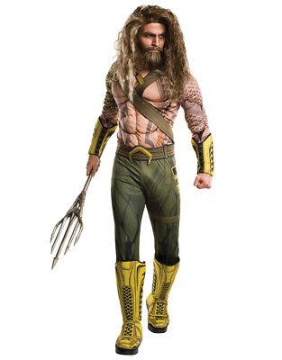 Batman v Superman Men Deluxe Aquaman Costume, STD,CHEST 44