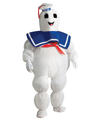 Inflatable Kid Stay Puft Marshmallow Man Outfit,Std,Age 5-7 yrs,HEIGHT 4'2