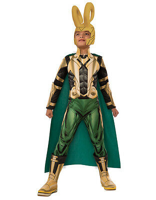 Loki Kids Dlx Avengers Muscle Chest Costume,Medium,Age 5-7, HEIGHT 4' 2